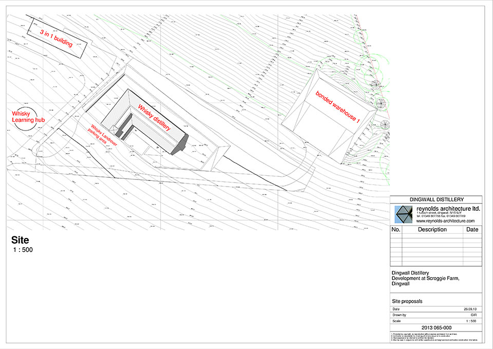 Plans for proposed distillery